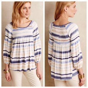 Anthropologie | NWT Meadow Rue Smocked Peasant Top